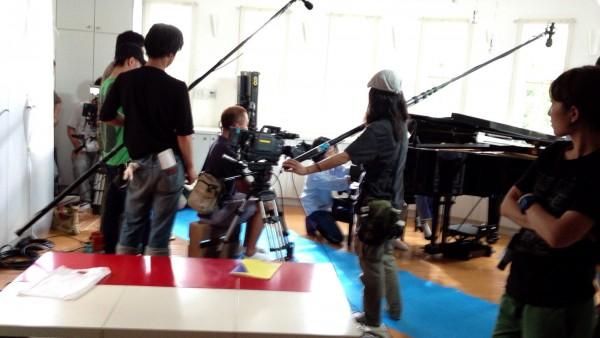 ピアノ教室でのドラマ撮影現場
