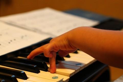 ピアノを演奏している画像